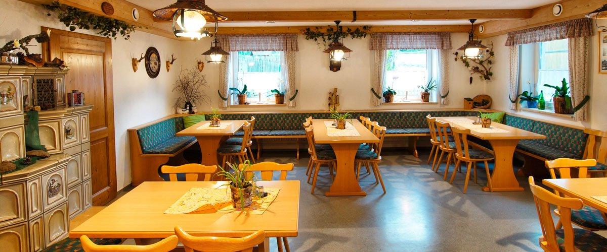 Gastraum | Gasthof Pension Waldfrieden